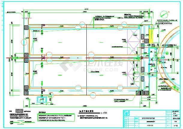 青岛某污水处理厂扩建工程设计图