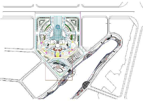 中心广场平面图