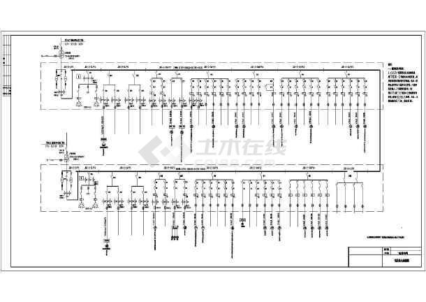 某地厂房车间电气设计低压供电系统图图片