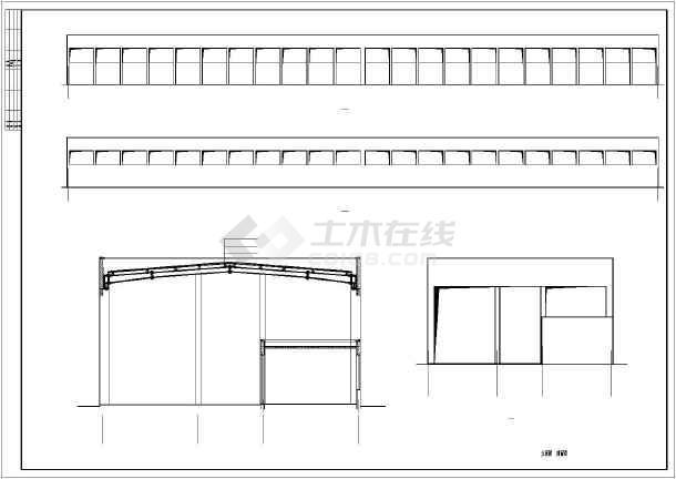 便民农贸市场大棚建筑设计图