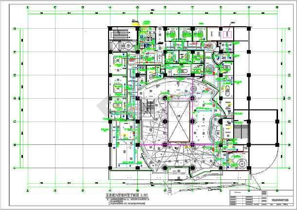 某地ktv全套空调通风施工设计图图片