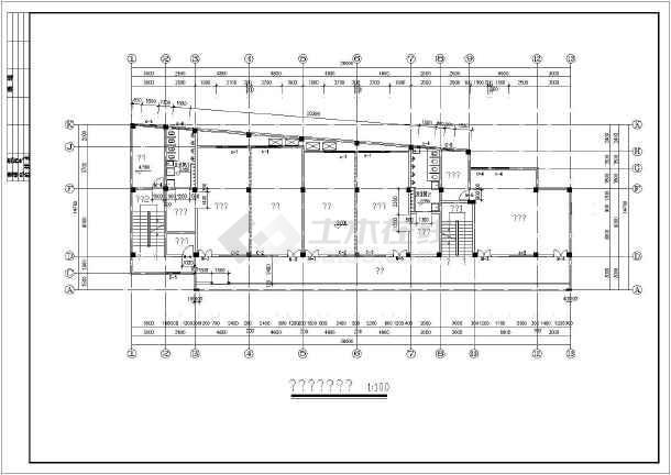某地区幼儿园建筑框架结构图(全套)