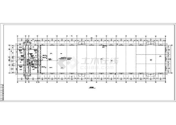某地多层车间钢结构厂房设计施工图-图3