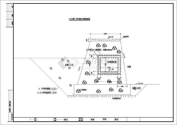 图纸堰坝工程施工设计施工CAD图纸_cad图纸ak47结构图v图纸水利图片