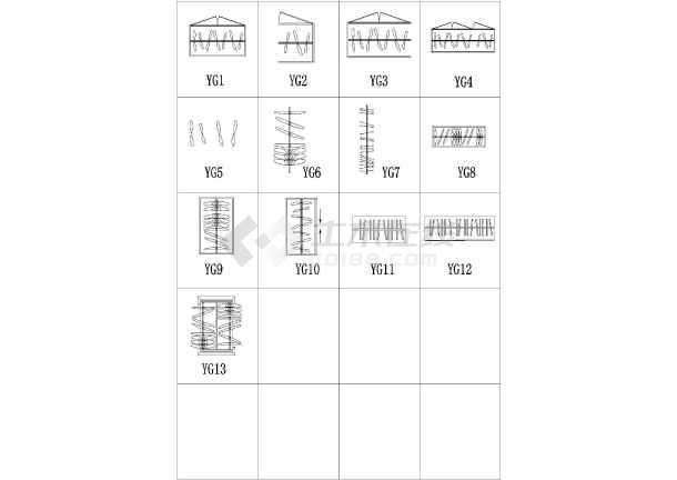 室内装修必备的CAD设计图纸图块符号集弱设计幼儿园常用电图片