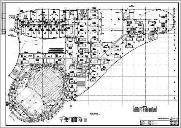 某地区热泵中全套环文化设计图(心水)室内设计max用老版本图片