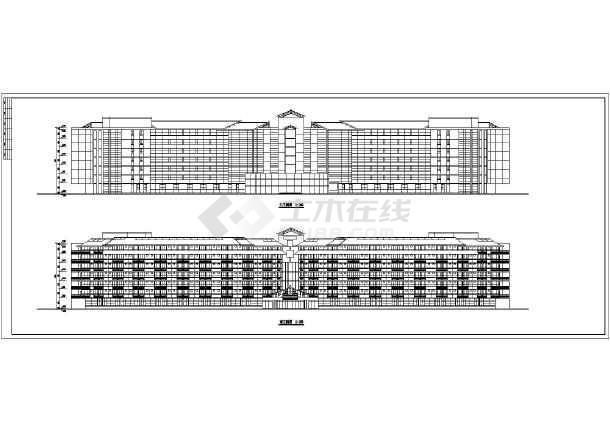 某三甲医院初步布局建筑设计图纸(CAD)cad选平面加大框图片
