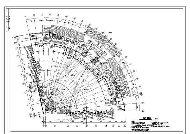 某市单层带地下室基督教总堂建筑设计方案图