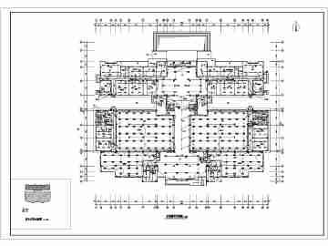 天津某学校四层图书馆电气设计施工图