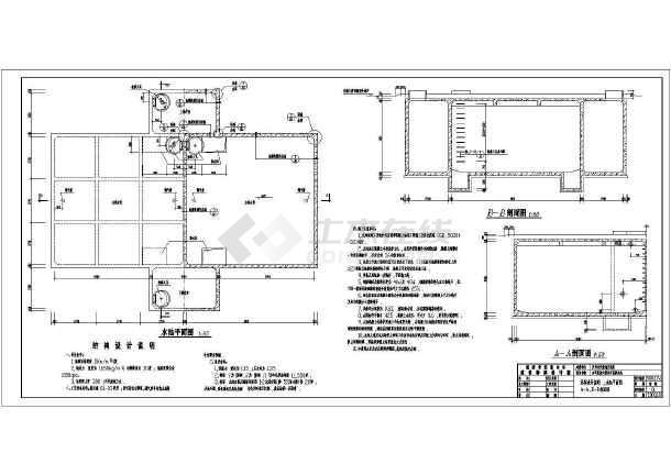 陕西某图纸及水池室外消防视图结构设计施工图cad医院法院锁定v图纸到图片