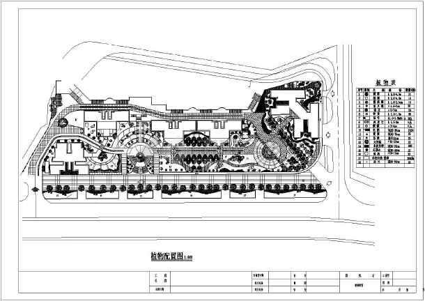 设计说明,总平面图 ,灯饰布置图,植物配置图,主入口平面图和立面图,廊