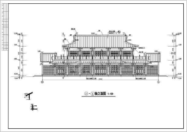 建筑部分包含:平面图,立面图