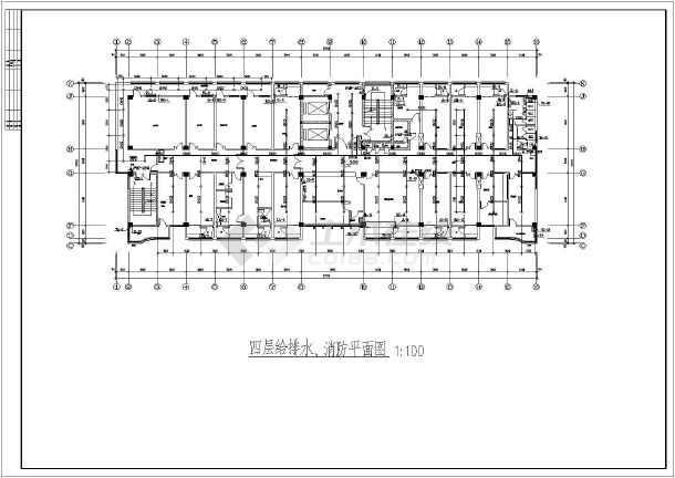 某卫生院建筑给排水专业设计施工图纸