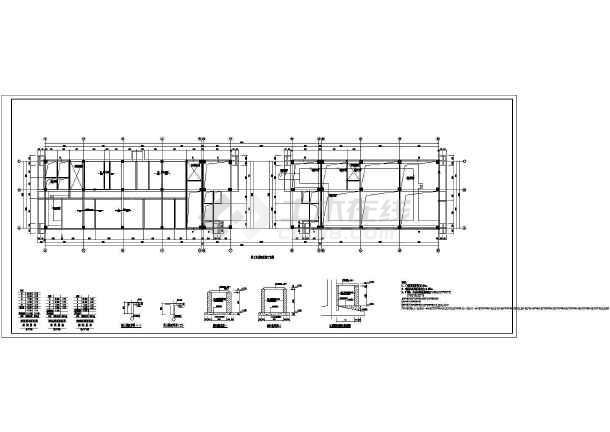 某混凝土结构教学楼水池施工图(带消防框架地cad2007编号图片