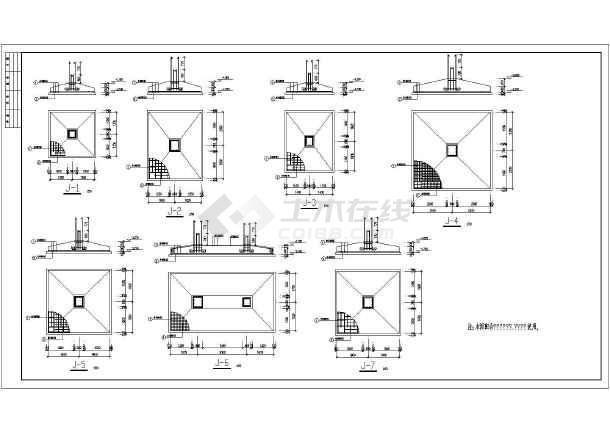 郑州3层钢筋混凝土框架生产楼全套结构施工图