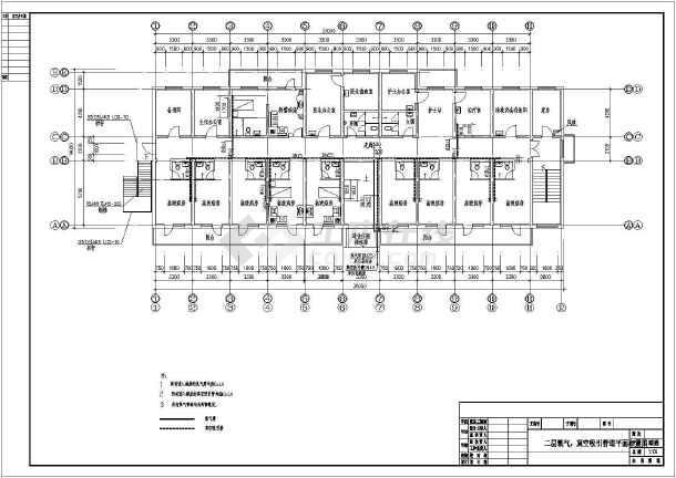 本图为两层小型医院中心供氧系统设计图纸.图片