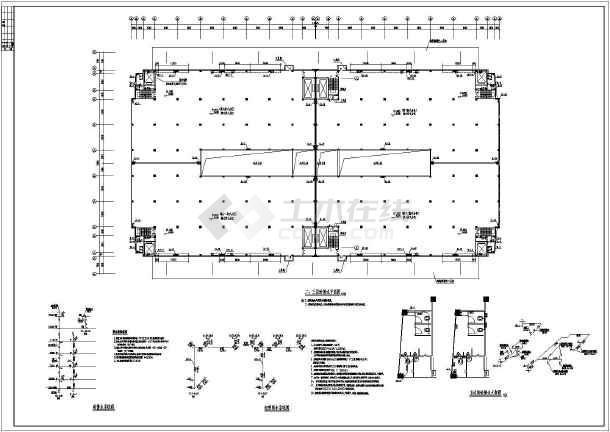 保利物流仓库消防施工图(含消火栓和自动喷淋图纸看管工图片