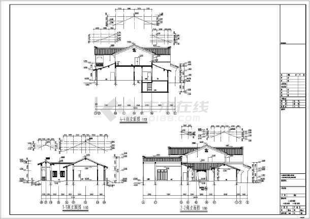 尺寸建筑设计民居_图纸建筑设计图纸民居免费号2大全图纸的图片