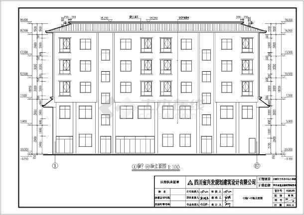 图纸 建筑图纸 教育建筑 大学生宿舍设计 某地区五层教师宿舍楼建筑图片