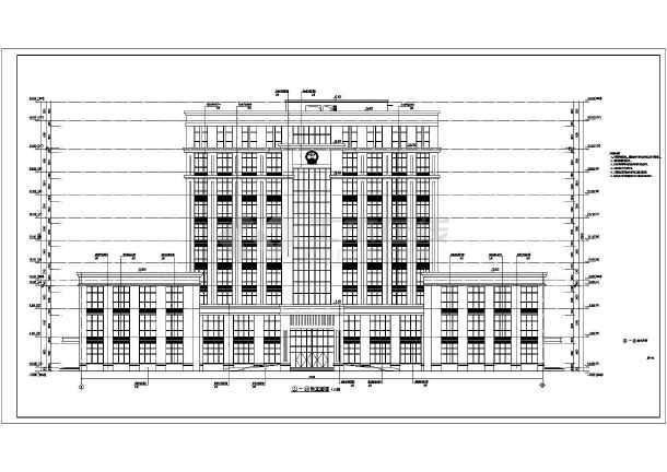 某地10层框架结构法院建筑方案设计图