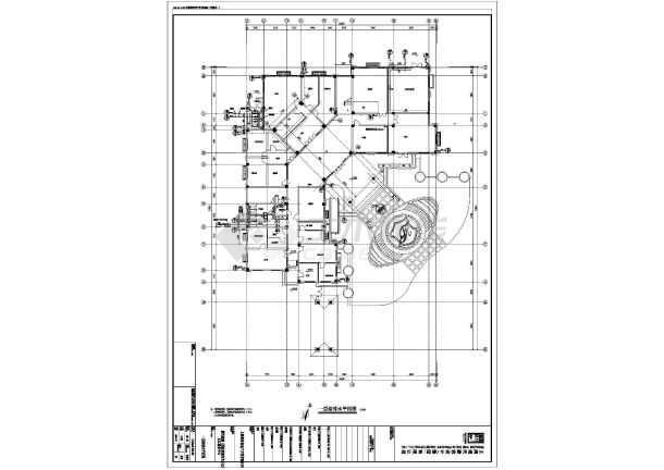 上海某4层框架结构办公楼全套施工图(建筑结构水电景观)