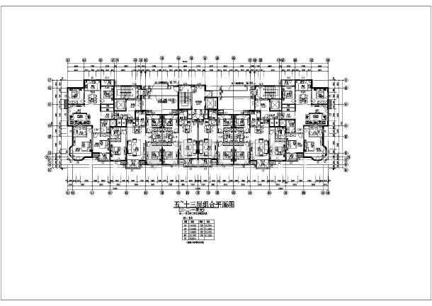 某小區高層北連廊戶型平面設計圖紙_cad圖紙下載-土木