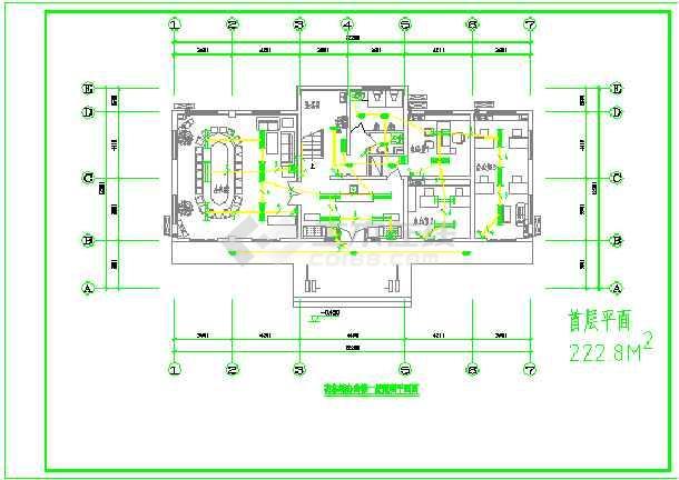 某办公楼图纸及电气食堂设计施工宿舍_cad图的没有图纸提供建设单位审图片