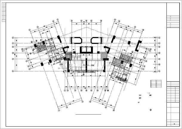 【广东】某地区34层高楼框架核心筒结构住宅楼结构施工图