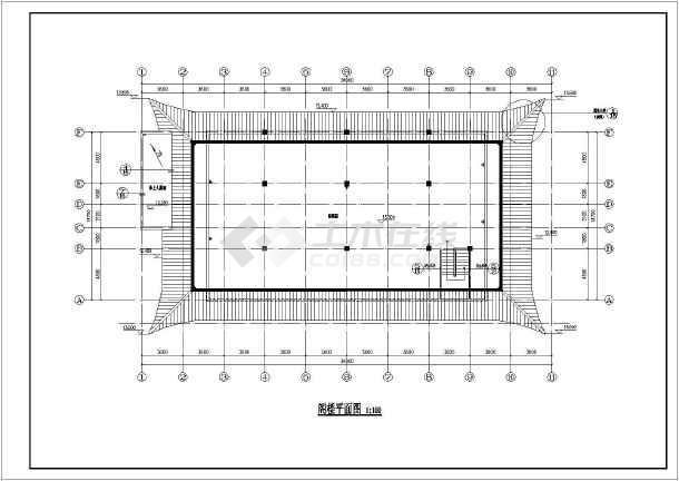 仿古建筑寺庙古建单体施工设计图纸