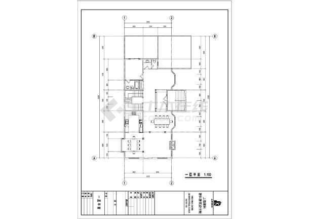 某地三层单家独院式别墅建筑设计施工图