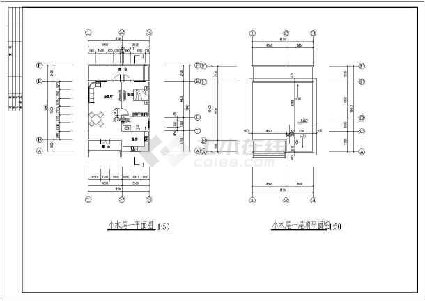 71万平方米一层木结构独栋别墅建筑cad施工图(含说明)