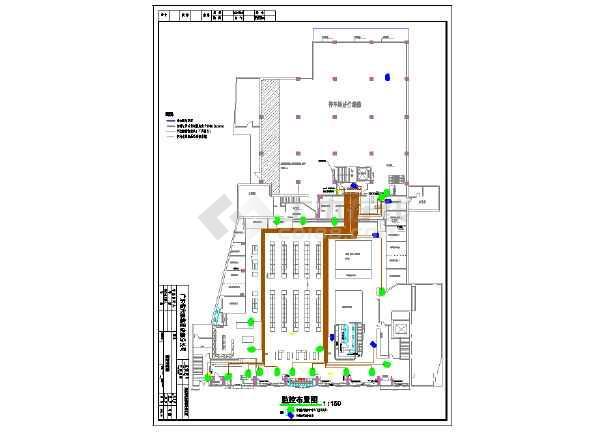 某红旗总府店室内装修及电气设计施工图 图1高清图片