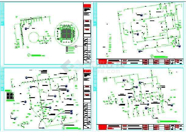 图纸 园林设计图 园林景观套图 施工图阶段套图 成都利通华阳住宅小区