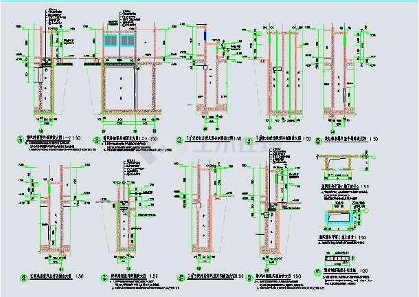 某地小区地下室人防建筑设计施工图