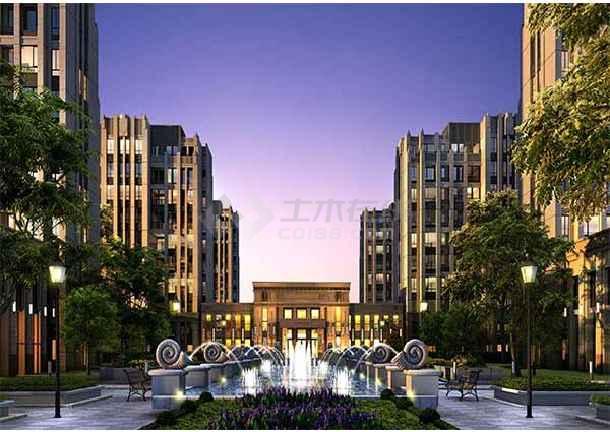 【郑州】欧式风格高层框架结构住宅区规划及单体建筑设计方案文本图片