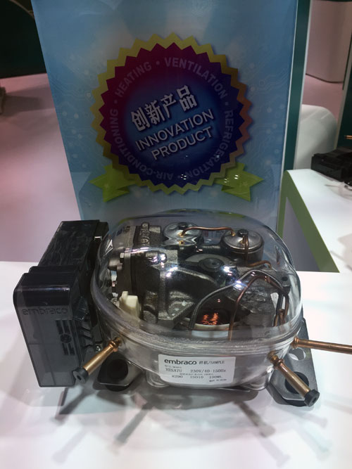 恩布拉科携手海容发布首台全驱变频r290压缩机