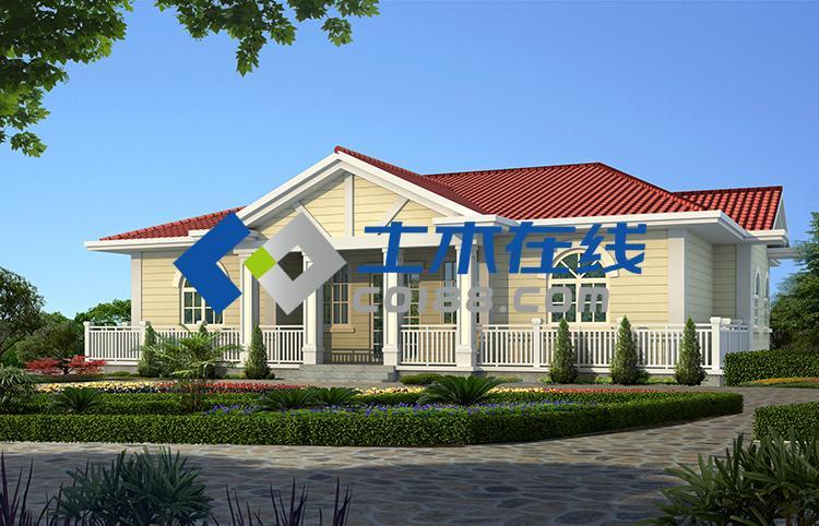 4平方米一层砖混结构平房设计图简介: 注明:别墅图纸商城所售别墅设计