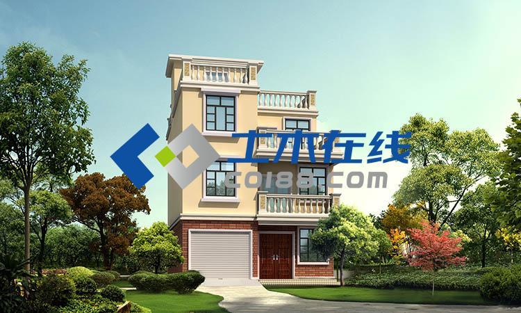 米三层框架结构别墅施工图购买 土木在线