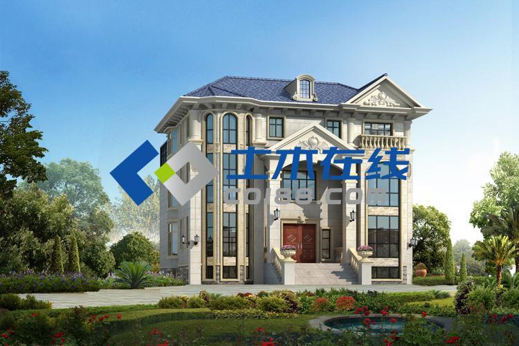 占地675.83平方米独栋三层别墅设计图