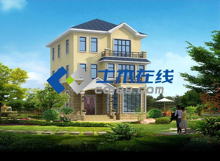 地334平方米三层别墅设计图及效果图购买 土木在线