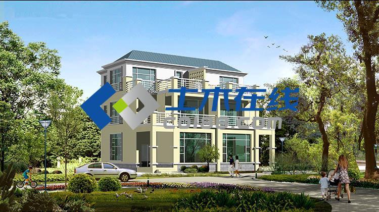 00平方米豪华农村三层双拼别墅设计图,28x12米图片