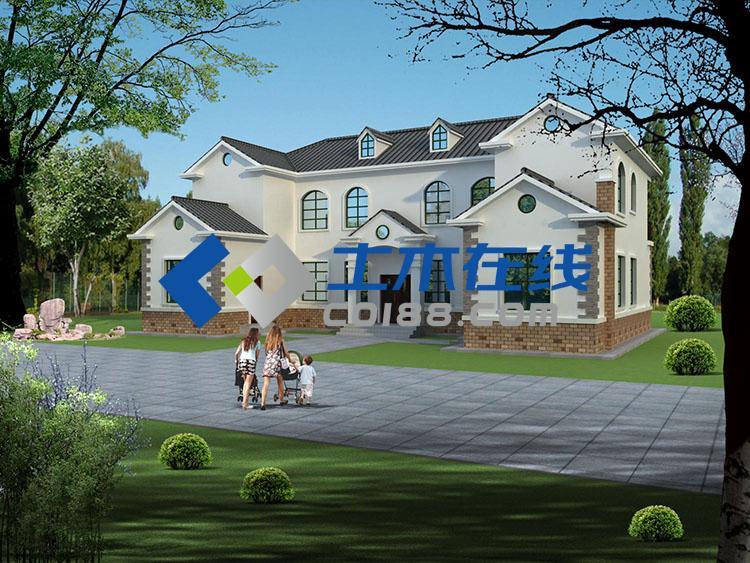 带坡顶别墅设计图