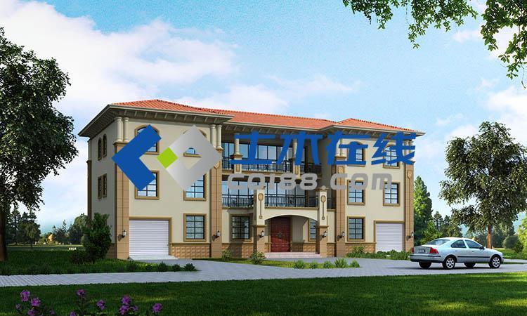 双拼农村三层别墅设计图