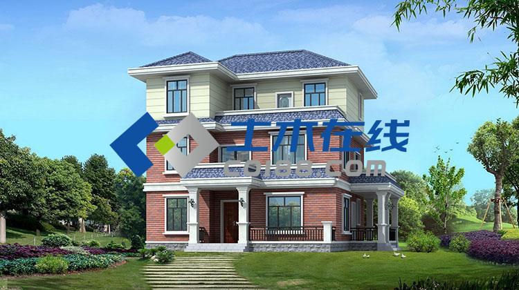 占地331.72平方米三层别墅设计效果图购买 土木在线