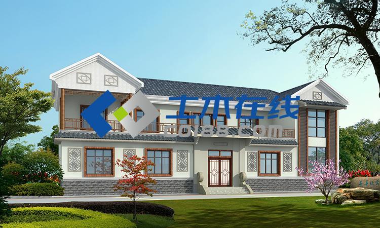 河南省农村自建房二层房屋设计图 农村房屋设计图,别墅图纸商城购买图片
