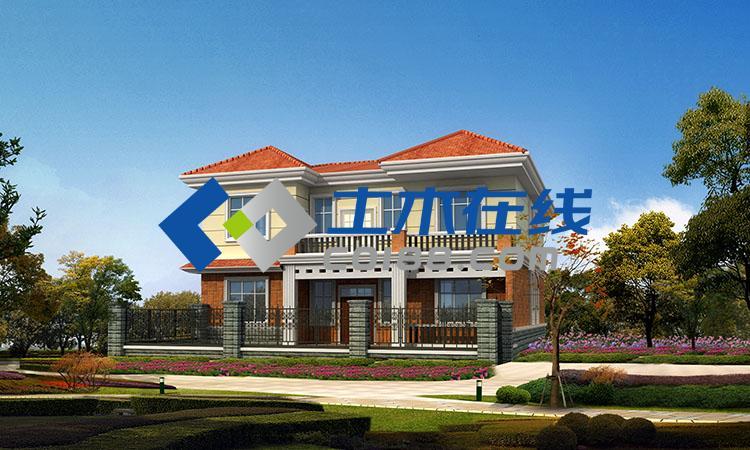3平方米二层砖混别墅设计图购买-土木在线