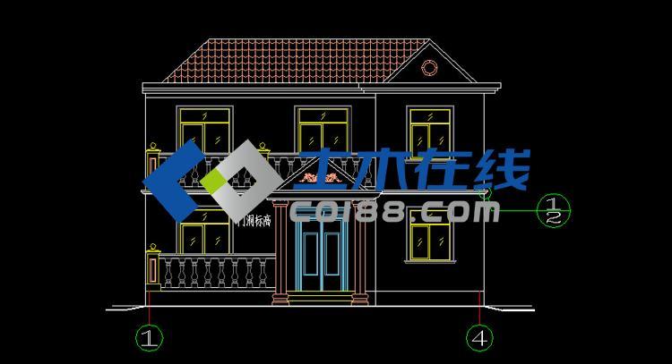 代传统风格二层农村房屋设计图10 8米购买 土木在线