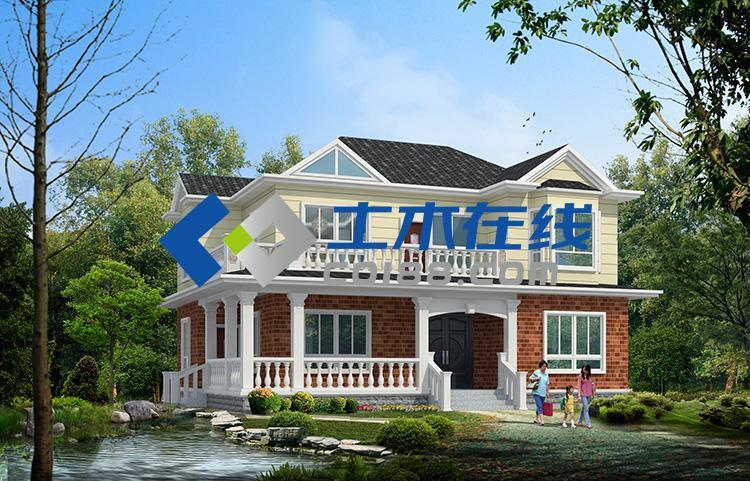 占地422.5平方米农村二层别墅全套施工图带效果图