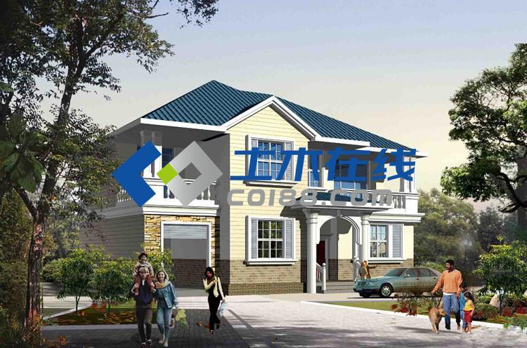占地280平方米结构框架二层小别墅设计图万96龙隐山别墅图片