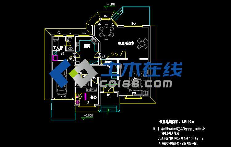 占地280平方米结构框架大全小别墅设计图豪华别墅二层图片